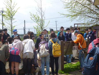 雲仙普賢岳噴火の被災校舎を見学2